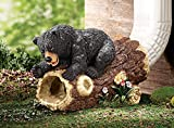 CT DISCOUNT STORE Cute Playful Woodland Bear Decorative Downspout Extension Outdoor Yard Decor