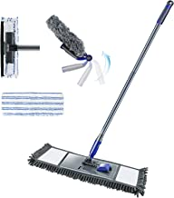 Household Cleaning Tools Set of Flat Cleaning Mop 2-in-1 Window Squeegee Adjustable Cleaning Duster with Long Handle and a...