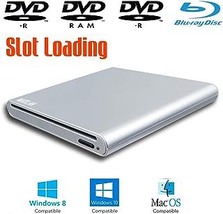 Dual Layer 8X DVD+-RW DL CD-RW Burner USB 3.0 Optical Drive New Slot Loading External Blu-ray Player for Dell Optiplex 7010 790 780 9020 990 3020 3050 9010 3010 3060 390 7060 Desktop Computer