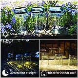 Gadgy ® Solarglas Einmachglas | Set 3 Stück mit 5 LED's | Warmweiß Licht | Solar Lampe für Außen | Garten Laterne - 2