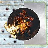 FMXYMC Tapete Cuadrado para fogatas, ignífugo   550 ° Resistente al Calor, Alfombrilla de ascuas y Alfombrilla para Parrilla de Barbacoa,19.69 * 31.50 inch/50 * 80cm