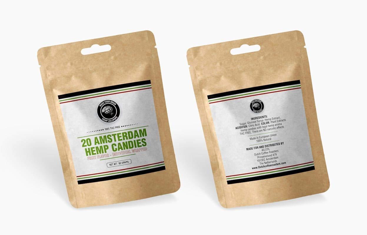 20 Dutch Hemp Hard Candies Fruit 100% quality warranty ~ Sale special price Flavor~