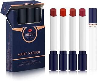 Creamy Cigarretes Red Lipstick Set, 4 Shades Make up Velvet Cosmetic Moisturizer Smooth Lip Stick, Mini Size Tubes (B)