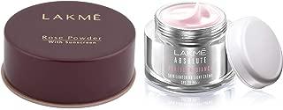 Lakme Rose Face Powder, Warm Pink, 40g & Lakmé Absolute Perfect Radiance Skin Lightening Light Creme, 50g