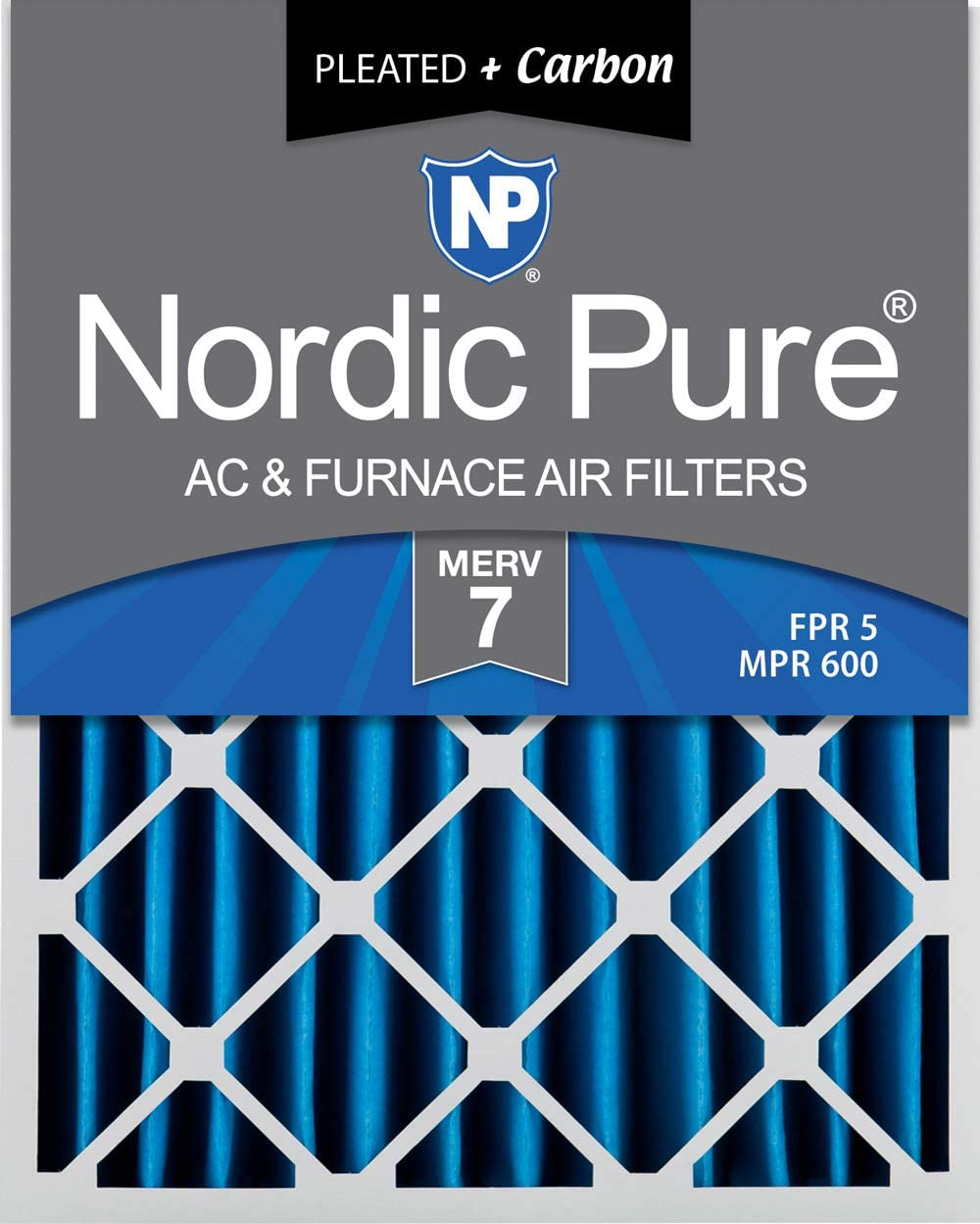 Nordic Pure 16x20x4 MERV 7 Pleated famous Carbon Air Plus New product! New type Fi AC Furnace