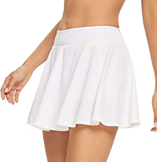 Tennis Skirts for Women Workout Pleated Running Golf Athletic Skort with Pockets and Shorts