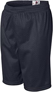 Badger Youth Mesh/Tricot Short (Navy) (M)