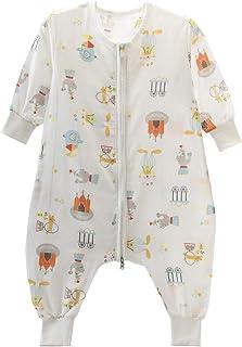 Blau Wal Chilsuessy Baby Sommer Schlafsack mit F/ü/ßen Kurzarm Kinder Sommerschlafsack Kinderschlafsack Pyjamas Overall Schlafanzug 100/% Baumwolle 80//Baby Hoehe 65-75cm