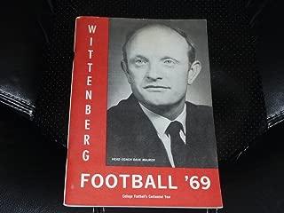 1969 WITTENBERG (OHIO) COLLEGE FOOTBALL MEDIA GUIDE EX-MINT BOX 13