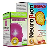 Neurobion energy + Neurobion high potency dietary supplement special blend of amino acids, vitamins b1- b6- & b12 + zinc