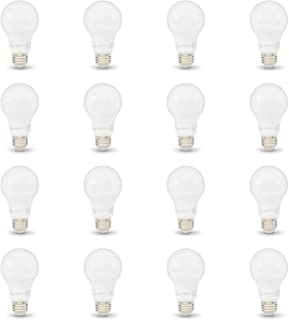 AmazonBasics 60W Equivalent, Soft White, Non-Dimmable, 10,000 Hour Lifetime, A19 LED Light Bulb | 16-Pack