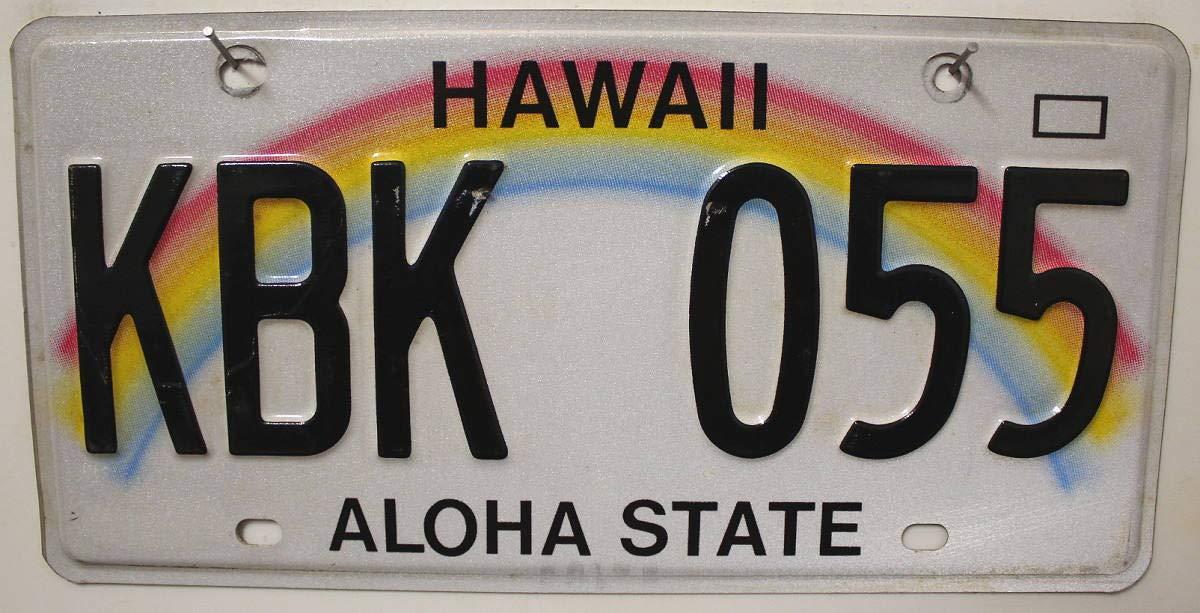 Estados Unidos Matrícula Hawaii ~ US Matrícula Diseño de Arco Iris Aloha ~ Cartel de chapa: Amazon.es: Coche y moto