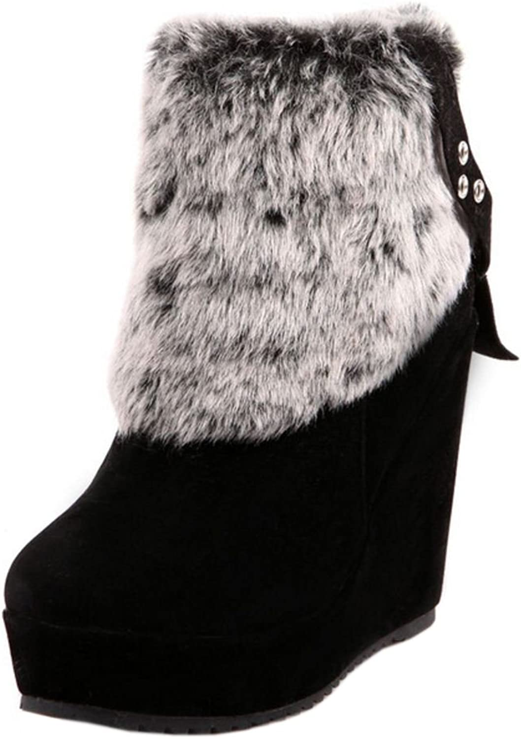 TAOFFEN Women's Ankle Boots with Heels