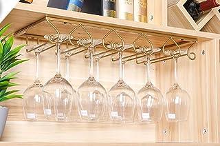 comprar comparacion Tosbess Soporte para Copas de Vino - Soporte de Acero para Colgar Copas en la Cocina, Bar o Restaurante - con 5 rieles
