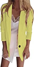 Clement Attlee Womens Casual Blazer Ruched Long Sleeve Open Front Fit Office Cardigan Buttonless Turn-Down Collar Jacket