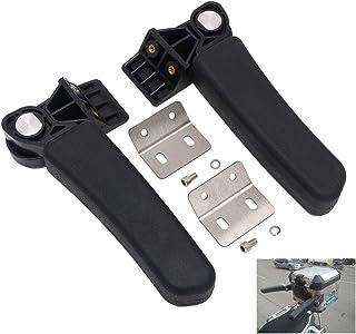 Motorcycle Passenger Armrest Folding Rear Box Side Handrail Universal for