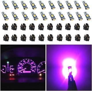 WLJH 74 Led Bulb Dash Lights Extremely Bright T5 2721 18 37 286 Wedge PC74 Twist Socket Automotive Instrument Panel Gauge ...