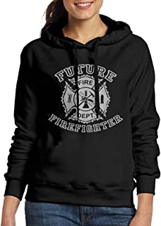 Wxf Womens Future Firefighter Casual Style Jogging Black Hoody