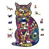 KAINUO Puzzles De Juguetes De Madera De Garfield,Rompecabezas Impermeable De Madera Animal,Puzzle Animales para Adultos Y NiñOs ColeccióN De Familiares(7.9 * 12.8in 200Pieces, Garfield)