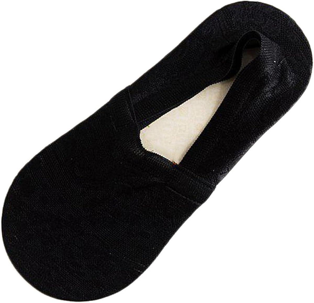 5 Pair Women's No Show Lace Socks For Flats Non-Skid Hidden Boat Socks