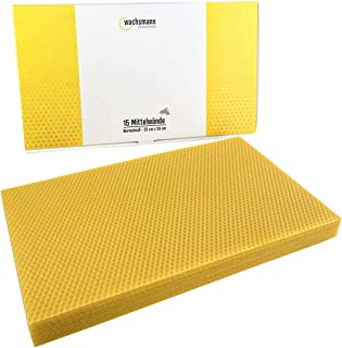 Wachsmann 100% reines Bienenwachs – Zertifiziert Made in Germany | Mittelwände | Zander- und Normal-Maß | zum Einsetzen in Rähmchen | für Imkerei und Hobby Imker | Profi Qualität
