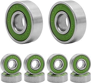 HOSTK Cojinete De Patín De 20 Piezas Para Longboard, 608 ABEC-9 Rueda De Acero En Línea Patín De Ruedas En Línea (verde)