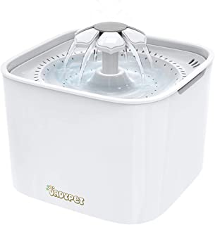 Dadypet Pet Water Fountain Electric Water Bowl Auto Cycle with Filter 2L Large Capacity 2W Pump for Cats Dogs Birds Guinea...