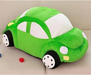 Dongcrytal 13.8 Inches Beetle Car Model Soft Pillows Stuffed Plush Car Toy Green Cushion