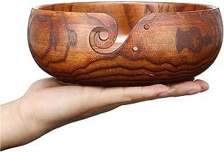 Trusafe Jujube Wood Yarn Bowl | Knitting Bowl | Crochet Bowl | Knitter Bowl | Yarn Holder (6