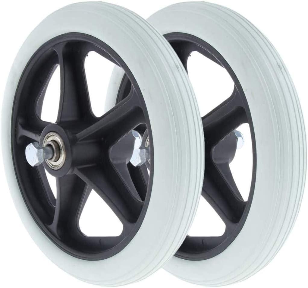 2pcs Silla de ruedas ruedas delanteras Piezas de repuesto Walker Wheels, Caster silla de ruedas Neumáticos sólidos,8 Inch/20cm