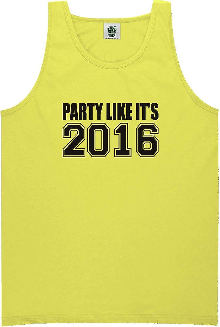 zerogravitee Party Like It's 2016 Bright Neon Tank Top