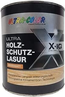 Holzlasur Ultra Color Holzschutzlasur Seidenmatt Holzschutz lasur alle farben 2 Liter, Palisander