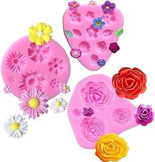 Flower Fondant Molds Mini Flower Silicone Mold Flower Daisy Mold Roses Flower Mold Flower Chocolate Molds DIY Cake Decorat...