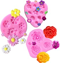 Flower Fondant Molds Mini Flower Silicone Mold Flower Daisy Mold Roses Flower Mold Flower Chocolate Molds DIY Cake Decorat...