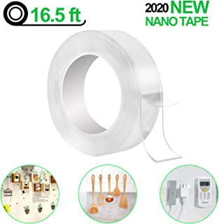 BIGOU Nano Tape Roll Double Sided Adhesive Tape 16.5 Foot Traceless Washable Nano Tape..
