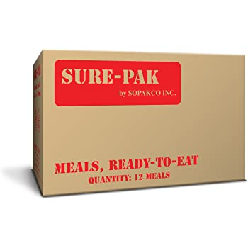 Sure-Pak MRE Meals Ready to Eat Case Pack of 12 for Survival and Emergency, New