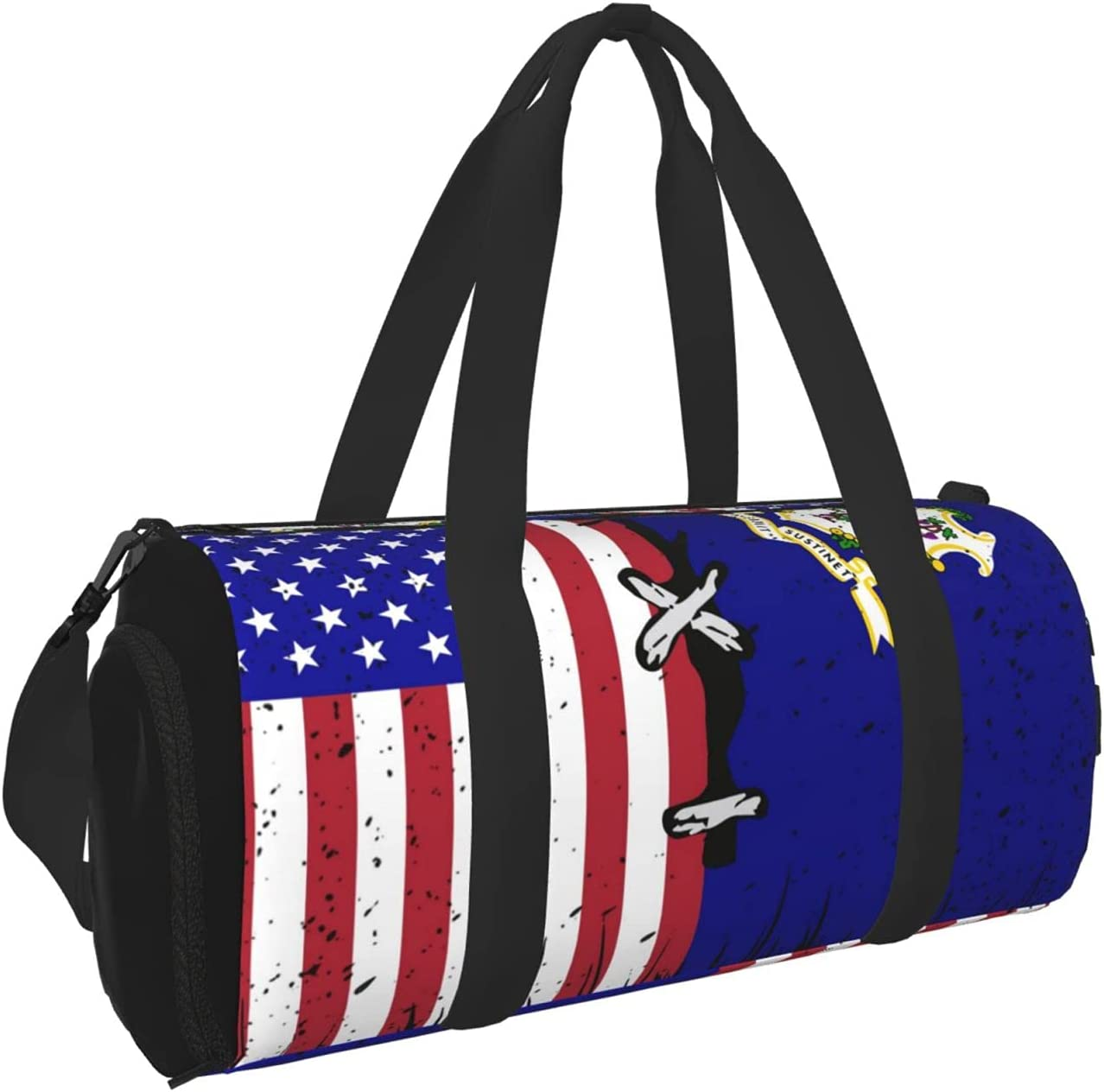 Max 65% OFF Kenaat Connecticut And American Flag Sports Dry Gym Wet With Bag Luxury