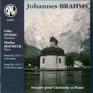 Brahms: Sonates pour clarinette et piano