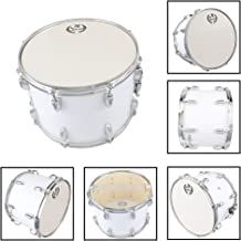 MBAT Student Marching Snare Drum Kids Percussion Kit White with Drumsticks Strap