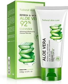 BIOAQUA 92% Aloe Vera Foam Cleanser - Refresh & Moisture Aloe Vera 92% Cleanser. Shrink Pores & Oil Control Deep Cleaning Face Cleanser.(100g)