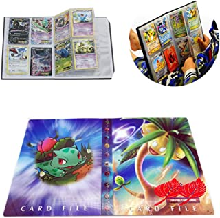 Card Holder Collection Handbook Trading Card Album for Pokemon Holds up to 240 Trading Cards (Bulbasaur)