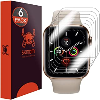 Skinomi Screen Protector Compatible with Apple Watch Series 5 (40mm)(6-Pack)(EZ Installation) Clear TechSkin TPU Anti-Bubb...
