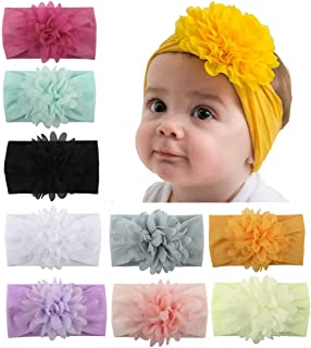 Baby Head Wrap Chiffon Flowers Toptim Newborn Infant Soft Nylon Headbands
