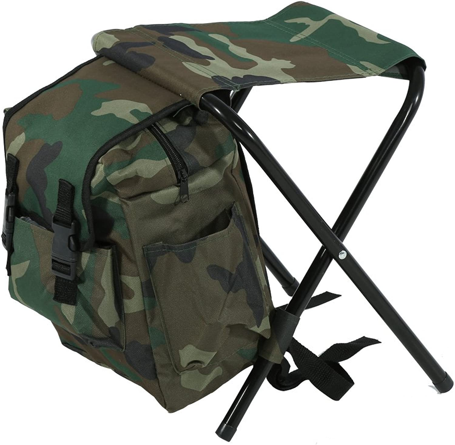 Foldable Fishing Stool, Outdoor Camping Convenient Carry Seat with Storage Bag