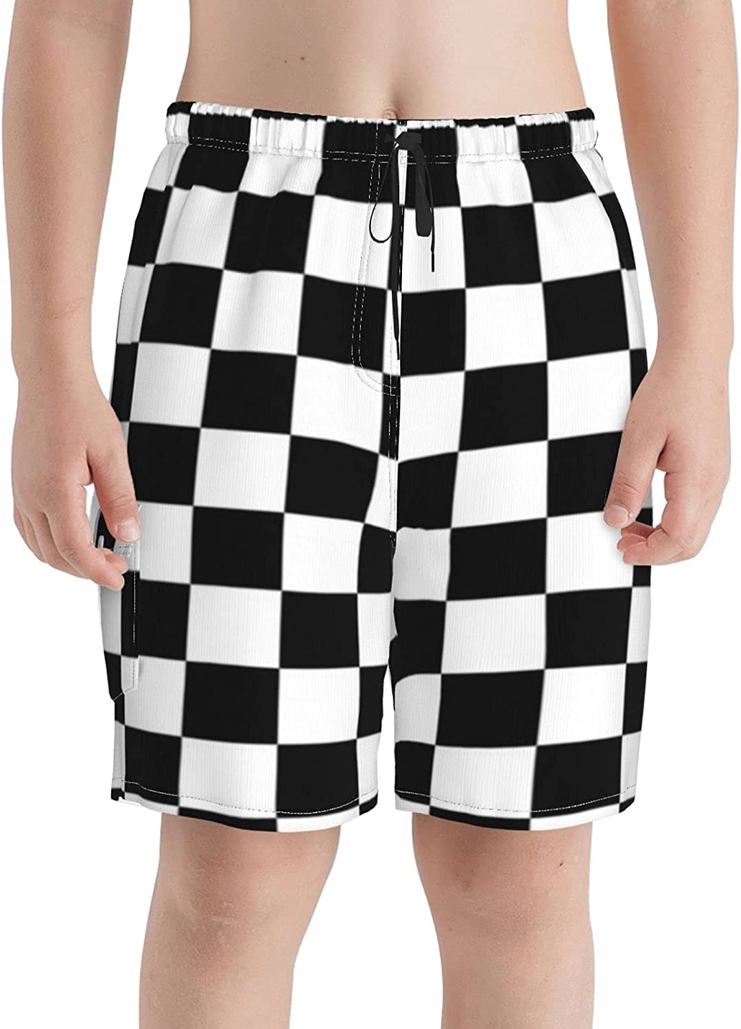 Max 71% OFF Neddelo OFFicial mail order Checkerboard Boys Swim Trunks Beach Boardshorts Teens S