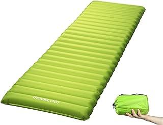 Trekologyインフレータブルスリーピングパッド、睡眠用キャンプマット (空気ポンプドライサックバッグ付き) コンパクト軽量キャンプマット、超軽量バックパック用快適マット、 ハンモックテントのアウトドア用マットとして最適