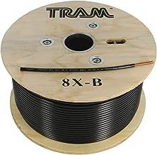 TRAM Tramflex Coaxial Cable, 500 Feet, Black