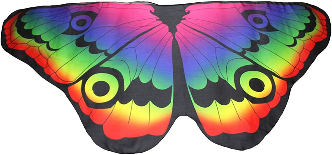 Novias Choice Kids Butterfly Wings Fairy Pixie Shawl Halloween Costume Cape Dres Up