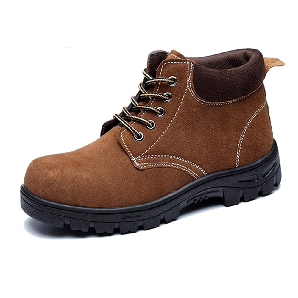 [Florai-JP] ショートブーツ メンズ レースアップシューズ 安全靴 作業靴 ハイカット スエード 厚底 つまさき保護 鋼製先芯 防寒 防水 耐滑 耐油 踏み抜き防止 刺す叩く防止 防汚 防臭 鋼製ミッドソール 耐磨耗