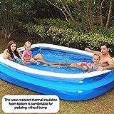 Piscina Hinchable Rectangular, Piscina De Agua De Verano, Piscina Hinchable Familiar Swim Center, Piscina De Bolas Marinas, para Bebé, Gruesa Y Duradera, para Bebés Y Niños, PVC, Azul